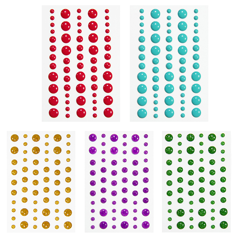 Enamel Dot Sticker Sugar Sprinkles Self- Adhesive Resin Assorted For DIY Scrapbooking Photo Album Card Crafts Decor