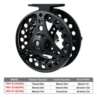 Outdoor Fishing Wheel Sporting Supply 1pc Reel Aluminium Alloy Fly 3+1BB Fly Fishing Wheel Left&Right Fishing Equipment