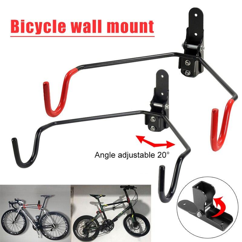Bike Wall Rack Adjustable Bicycle Wall Hooks Road Mountain Bikes Holder Hanger Mount Storage Rack ALS88