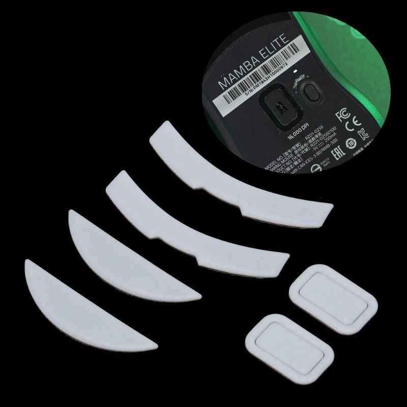 2 Sets/pack Tiger Gaming Mouse Kaki Mouse Skate untuk Razer Mamba Elite Putih Teflon Mouse Meluncur Curve Edge