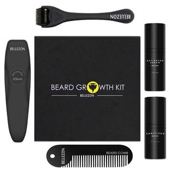 4 шт./компл. набор для роста бороды, Усилитель роста волос, утолщенное масло, питательная эссенция, кондиционер, уход за бородой с расческой