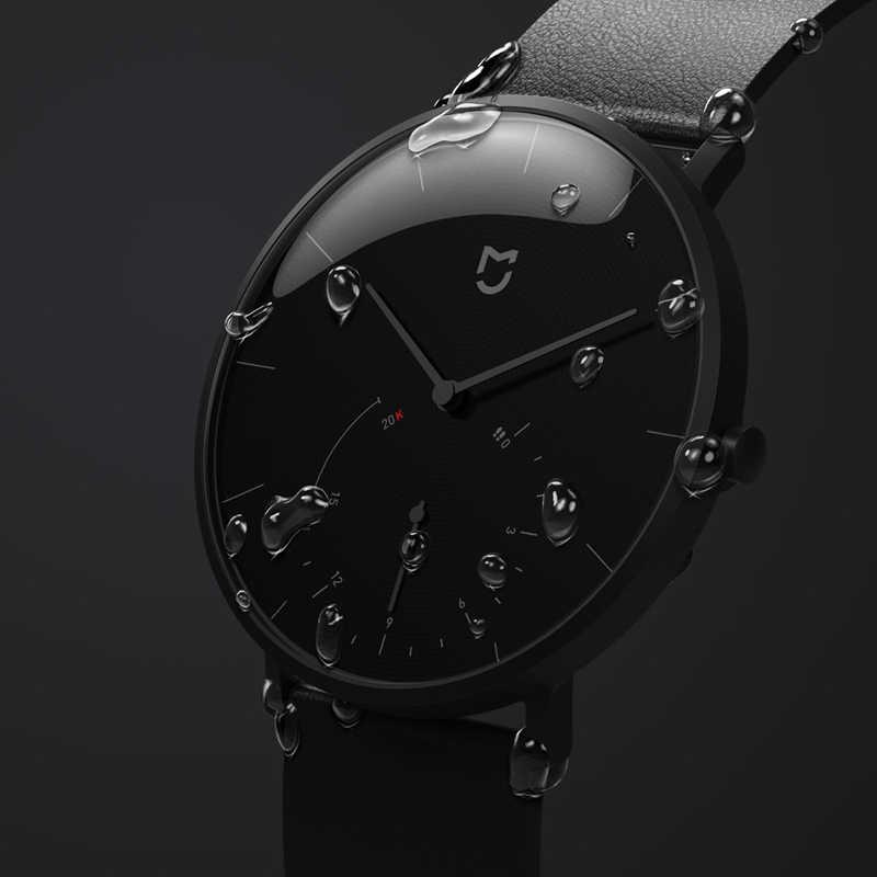 מקורי Xiaomi Mijia קוורץ חכם שעון גברים עור פשוט נשים עמיד למים Bluetooth ספורט Smartwatch האלקי-653