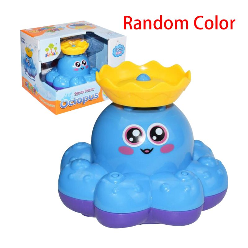 Bath Toy Spray Water Octopus Float Rotate Fountain Baby Bathtub Supplies Infant Kid Party Electronic Sprayer R7RB