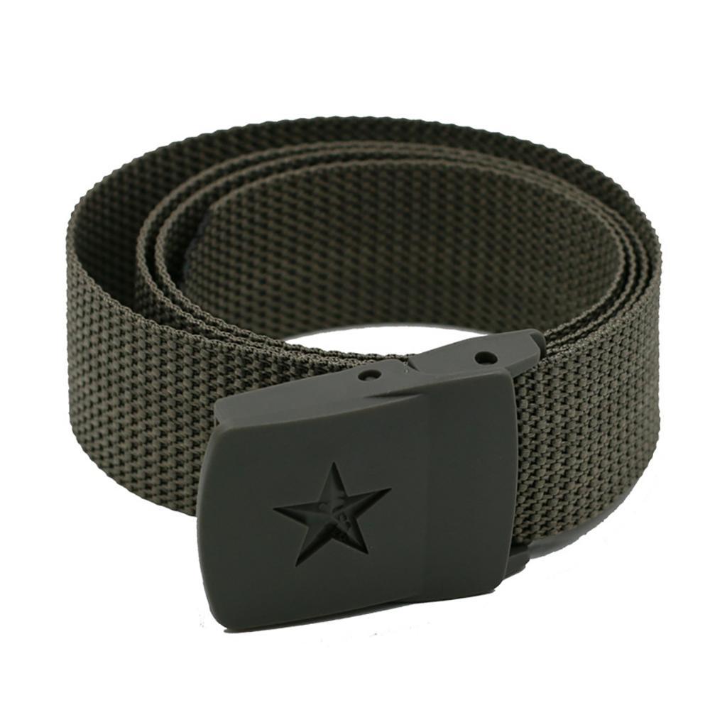 Waist Belt Unisex Slim Smooth Automatic Buckled Nylon Belts Waistband Apparel Accessories For Men Women