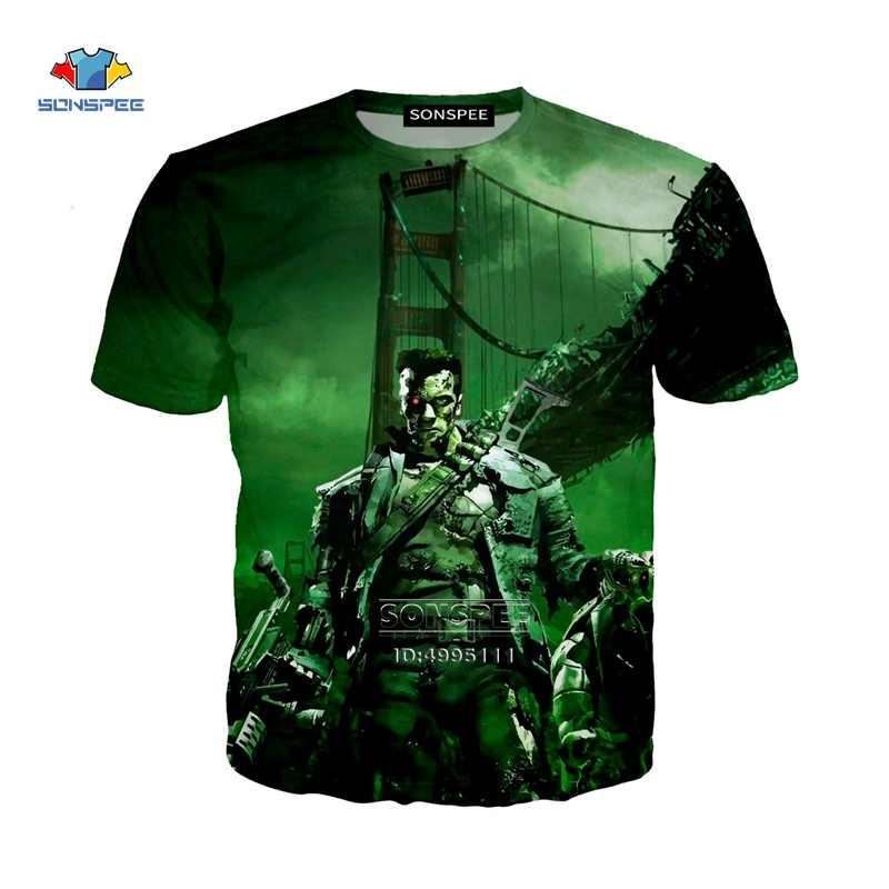 Sonspee 3D Stampa di Trasporto Del Nuovo Film Terminator Scuro Fate Arnold Schwarzenegger Unisex Casual Harajuku T-Shirt Hip Hop Maglietta A1045