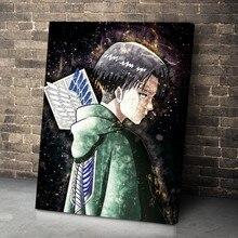 Ataque em titã quadros em tela anime arte da parede modular levi ackerman fotos hd impresso cartaz sala de estar decoração casa sem moldura