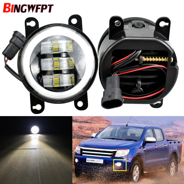 Car LED Fog Light For Ford Ranger 2005 2006 2007 2008 2009 2015 Daytime Running Light 12V For Ford Transit Tourneo 2006 2014