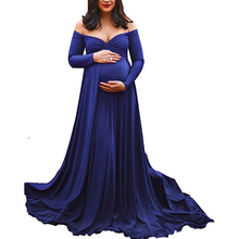 Fashion Dresses Women for Photo Shoot Maternity Photography Props Pregnancy Dress Maxi Gown 2019