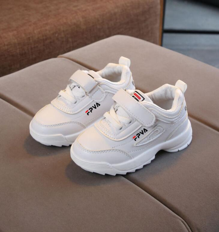 Autumn Boys Girls Fashion Sneakers Baby/Toddler/Little Kids Leather Trainers Children School Sport Shoes Soft Running Shoes