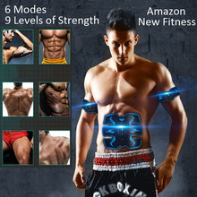 Belly Training Abdominal Muscle Stimulator Artifact Abdomen Lazy Thin Exercise Body Slimming Shaper Wireless Vibration Fitness