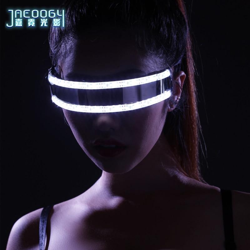 σCloseout Deals2020 new LED luminescent spectacles, the creative fashionable night luminous glasses, bars, night show products