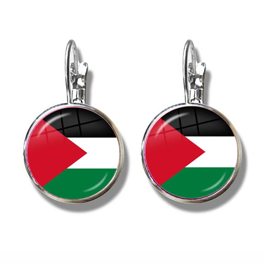 Palästina, Thailand, Zypern, Ägypten, Kolumbien, Tunesien, Österreich, Island, kambodscha Nationalen Flagge Französisch Haken Ohrringe Schmuck Für Frauen