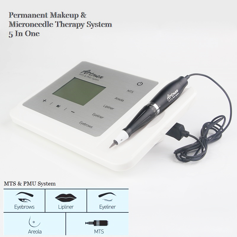 Permanent Makeup Tattoo Machine Artmex V9 Eyebrow Lip Rotary Pen  With Tattoo Needle For Eyeliner Tattoo Skin Rejuvenation