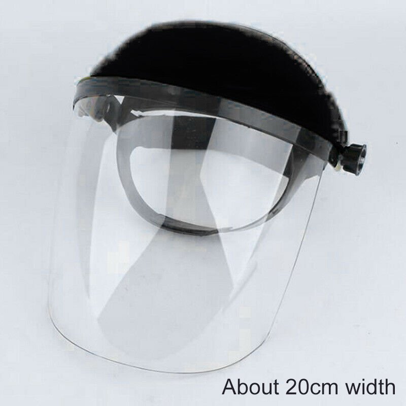 1pc Adjustable Headband Clear Face Visor Mask Full Face Shield Safety Workwear Eye Protection Workplace Safety Helmet