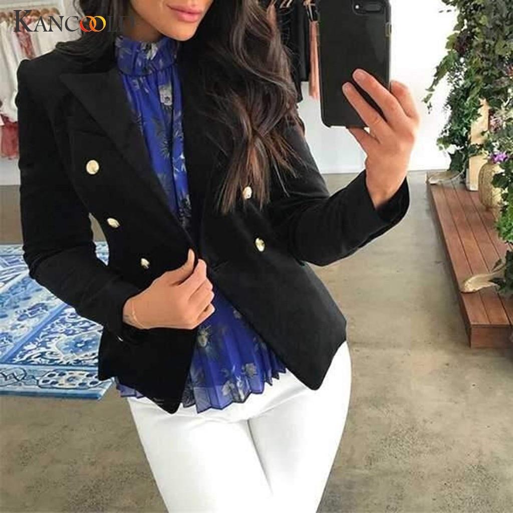 KANCOOLD Coats MINIMALIST STYLE Slim Top Long Sleeve Casual Jacket Ladies Office Wear Fashion Coats And Jackets Women 2019Sep6