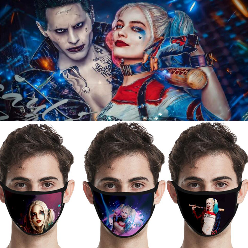 Suicide Squad Mask Cosplay Masks Reusable Mascarillas Washable Harley Quinn Mask Cotton Dustproof Party Props