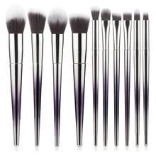 Foundation Powder Blush Eyeshadow Concealer Lip Eye Makeup Brush 10 Pcs Professi