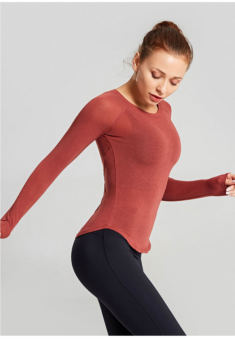 esporte camisa feminina manga longa colheita superior