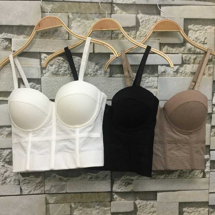 Mode Mesh Push Up Bralet Vrouwen Corset Bustier Bra Night Club Party Lange Sexy Cropped Top Vest Plus Size AW514