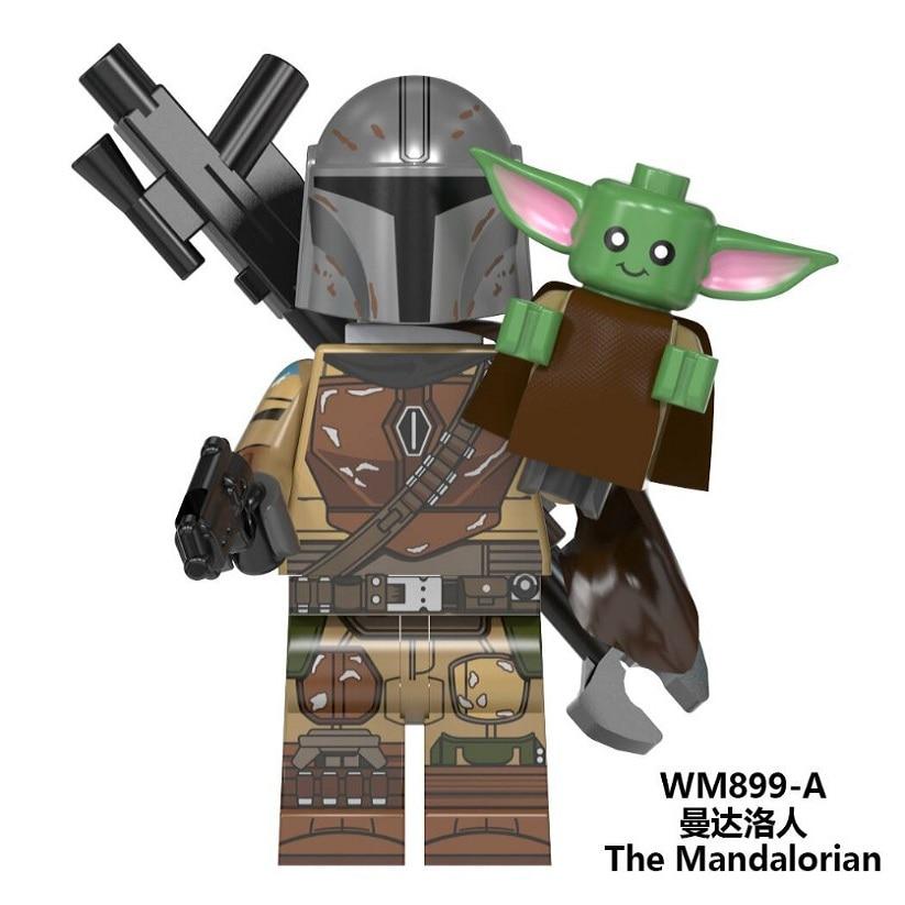 Starwars Figures Baby Yoda The Mandalorian Warrior Sith Jet Trooper Knights Of Ren Kylo Rey Finn Star Wars Building Blocks Toys