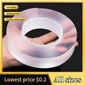 1/2/3/5M Reusable Nano Klebeband Klar Doppelseitiges Abnehmbare Transparent Alien Band Anti-Slip Spurlose Hause Liefert Bänder