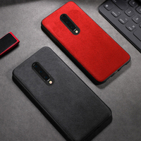 Genuine Cow Suede Leather case for Oneplus 7 pro 6T 6 7t pro shockproof 360 Full protective back cover for One plus 7 5 5t 7T|Fitted Cases| |  -