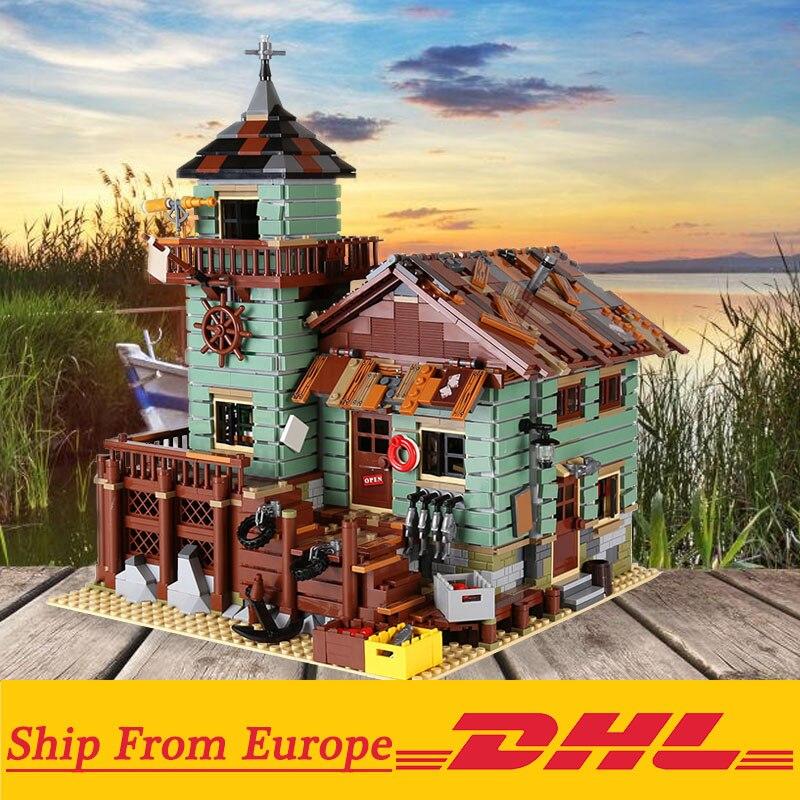 16050 Old Fishing Store shop Creative film series Building bricks blocks 2294PCS