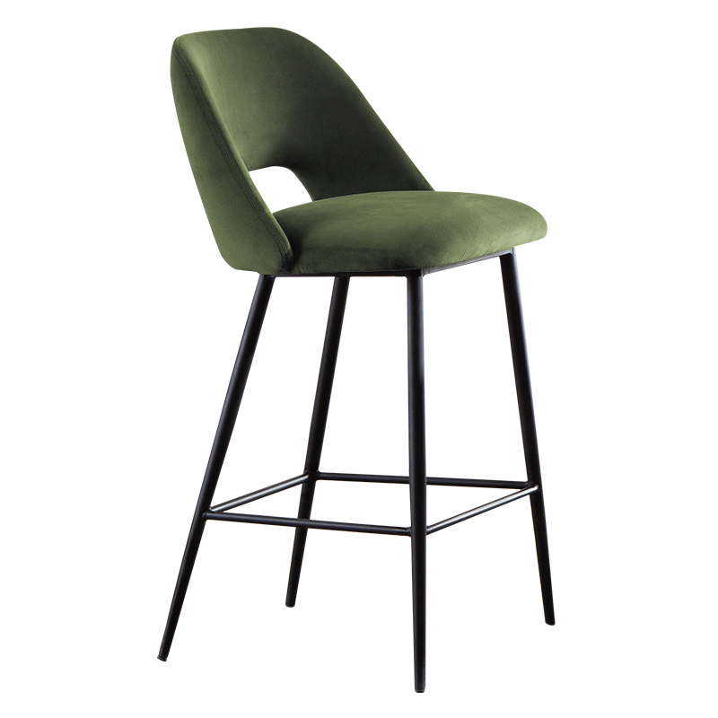 Bar Chair Modern Simple Metal High Foot Front Desk Chair Bar Stool Household Soft Bag Loft Designer Creative Bar Chair