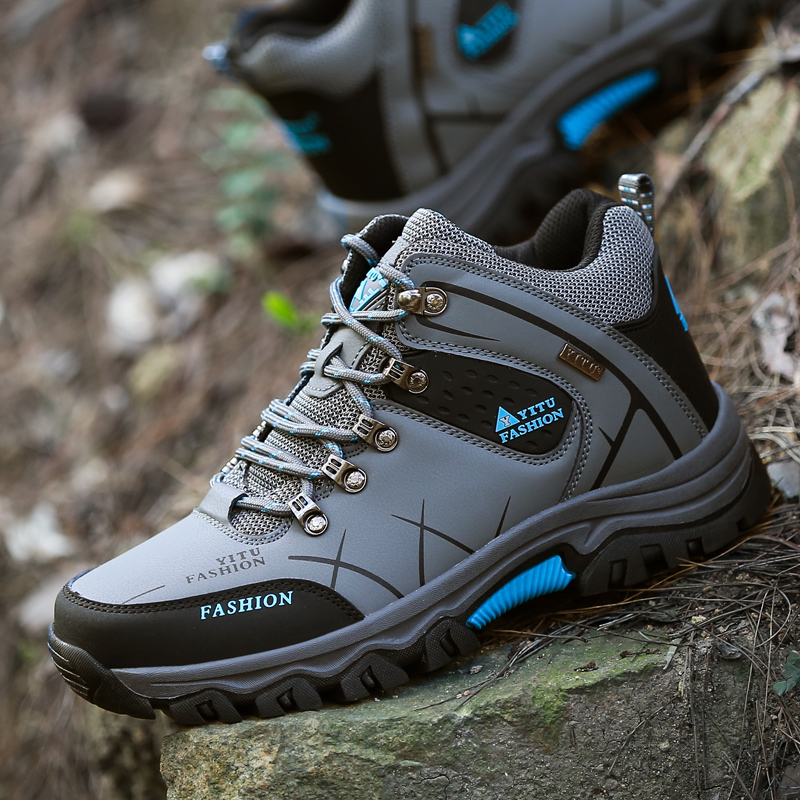 New Winter Comfortable Men Snow Boots Men High Top Ankle Boots Men Outdoor Hiking Shoes Lightweight Safety Boots Rubber Footwear