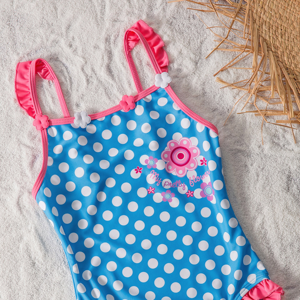 Shi Ying New Style GIRL'S Swimsuit Hot Springs Swimwear Dotted GIRL'S Swimwear One-piece Swimsuit For Children 410014