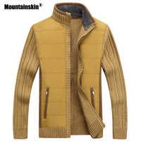 Горные мужские свитера, зимний теплый флисовый вязаный свитер, осенние куртки, кардиганы, пальто, Мужская одежда, повседневная вязаная одеж...