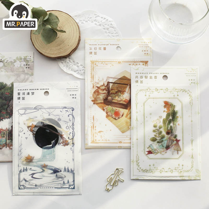 Mr.Paper 30pcs/lot 4 Designs Aestheticism View Series Memo Pads Loose Leaf Notepad Diary Writing Points MotorCycle Creative Note