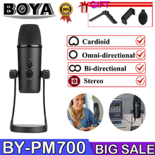 BOYA BY-Pm700 Usb Computer Live Microphone Flexible Pickup Interview Conference microphone for computer 360 reception voip conference microphone speaker microphone usb microphone for computer pop filtermegaphone condenser microphone