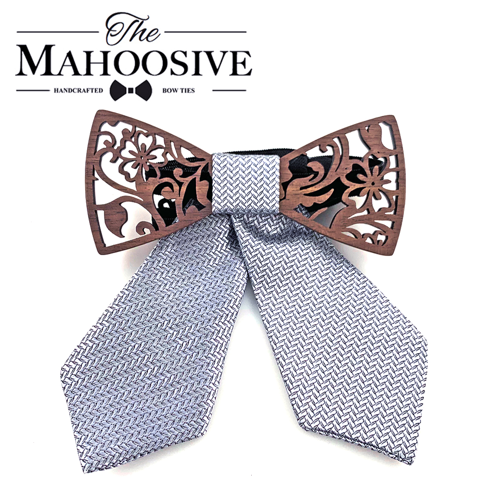 Wood Neck Wear Accessories Bow Ties Striped Korean High Quality Bowties Stewardess 2019 New Cravat 1PC Butterfly Women
