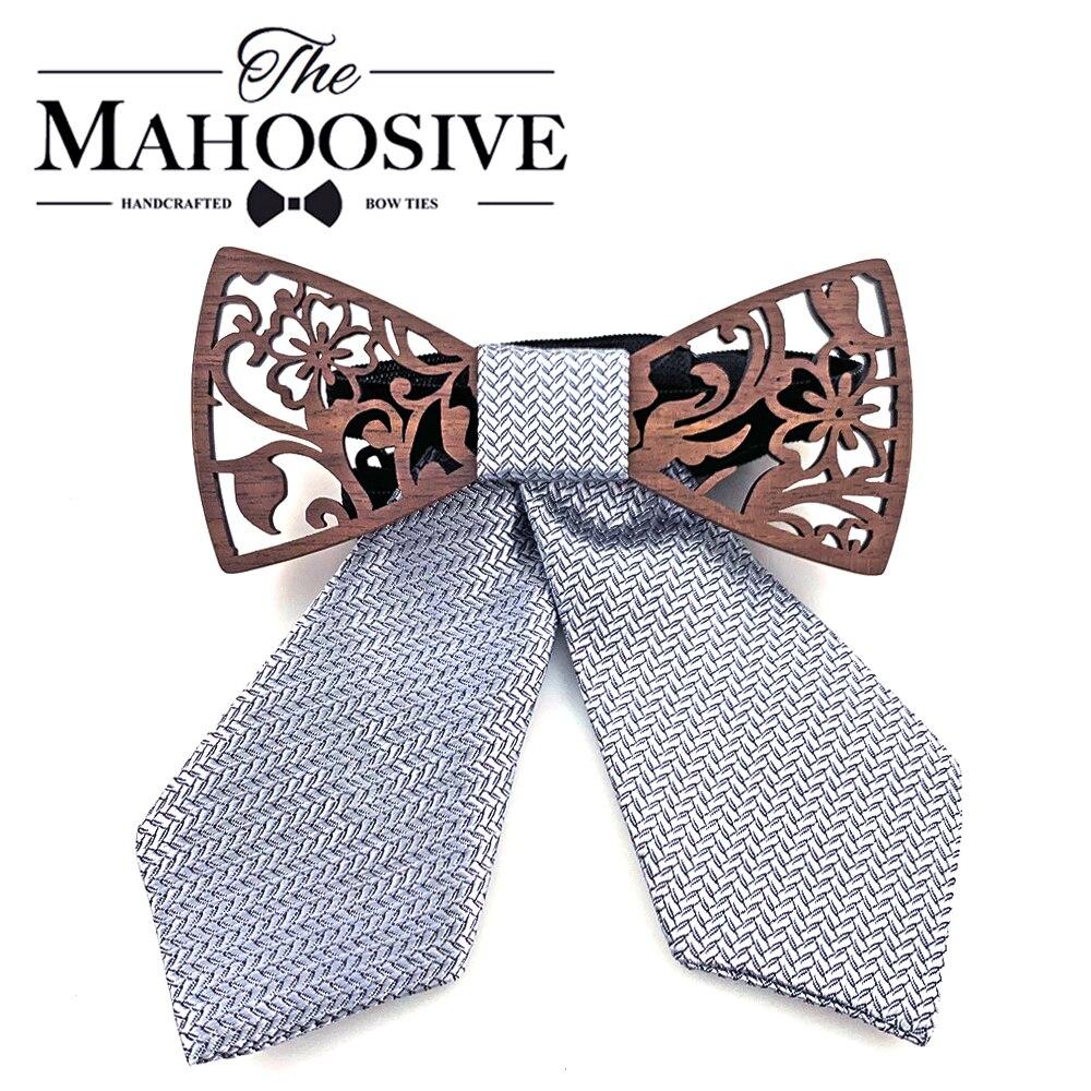Wood Neck Wear Accessories Bow Ties Striped Korean High Quality Bowties Stewardess 2019 New Cravat 1PC Butterfly Women