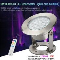 9W RGB + CCT LED Onderwater Verlichting voor zwembaden Vijvers fonteinen (LoRa 433 MHz) 12V waterdichte IP68 landschap lamp kan APP/voice control-in LED Onderwater Verlichting van Licht & verlichting op