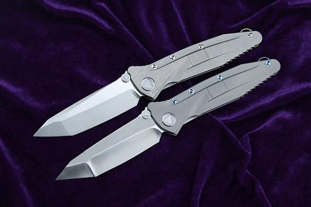kevin john Delta folding knife S35VN blade titanium handle camping hunting survival pocket Kitchen fruit knives 2