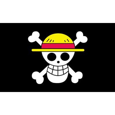90x150 см цельная Обезьяна D. Луффи череп флаг