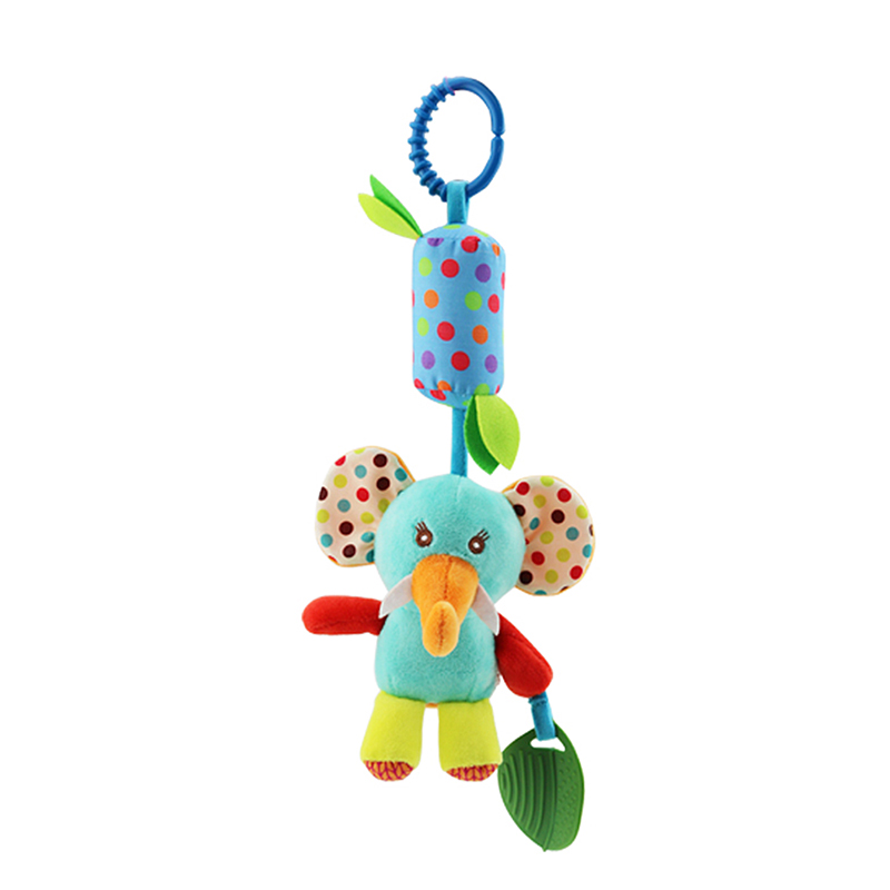 Animal Wind Soft Hanging Rattle Crinkle Squeaky Toy Chime Baby Stroller Car Seat Crib Plush Rattle Toys With Teether Gifts Kids
