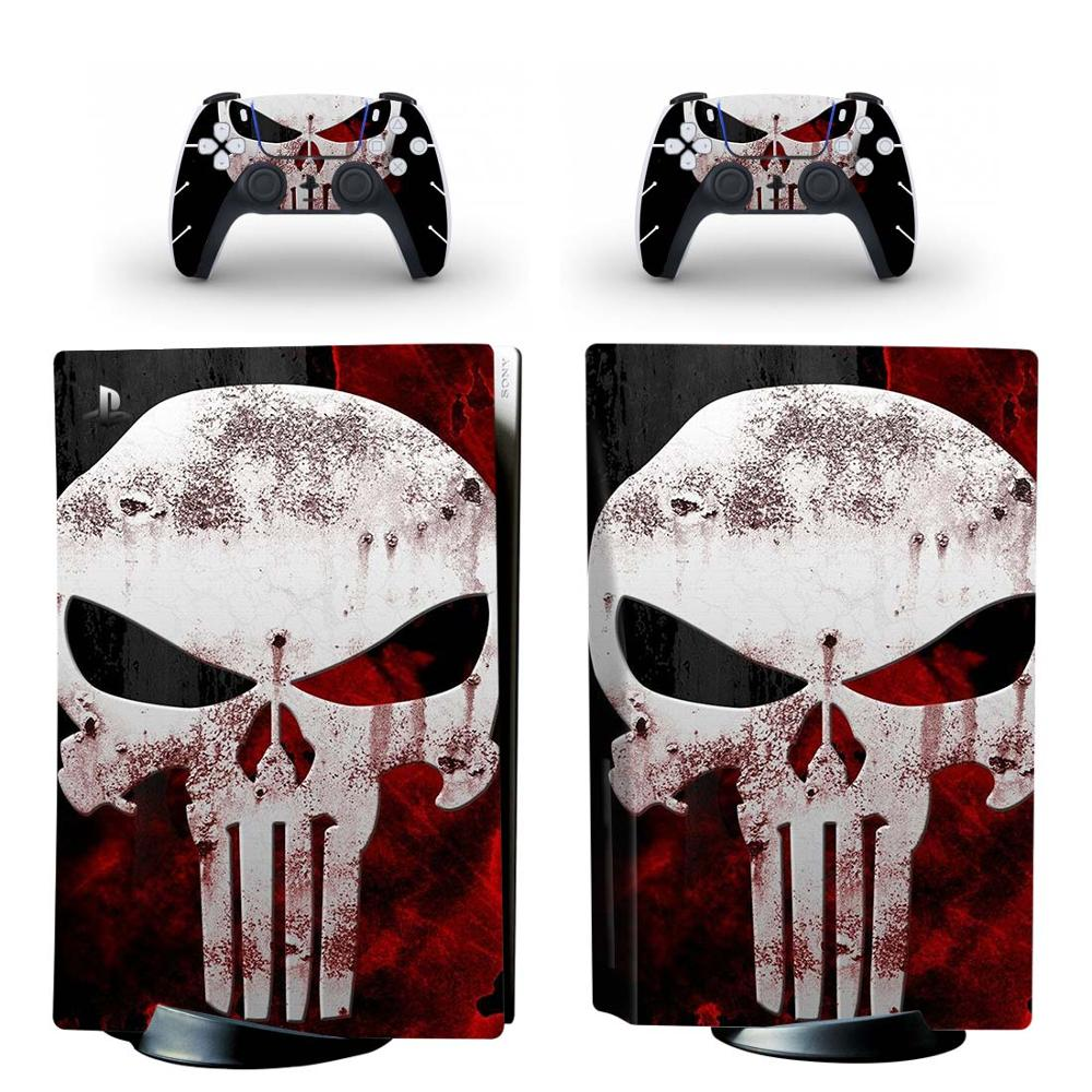 The Skull PS5 Standard Disc Edition Skin Sticker Decal Cover for PlayStation 5 Console & Controllers PS5 Skin Sticker Vinyl 1