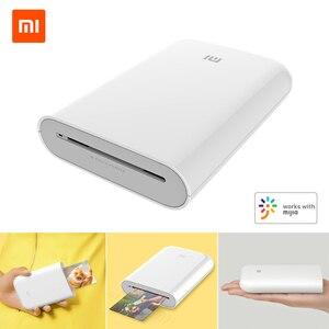 Image 2 - Xiaomi Printer AR Printer 300dpi Portable Photo Mini Pocket With DIY Share 500mAh picture printer pocket printer work with mijia
