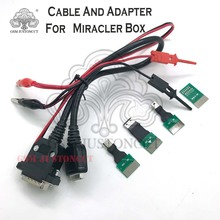 original new 4 Adapters + cable Set for Miracle box / volcano box ( all best cable 100% original )