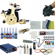 Starter Complete Tattoo Kit Set Tattoo Machine Power Supply 1 gun Immortal 6Colors Inks Tattoo Supplies professional tattoo kits tattoo machine gun power supply system needles ink set alloy gripping complete tattoo equipment kit eu