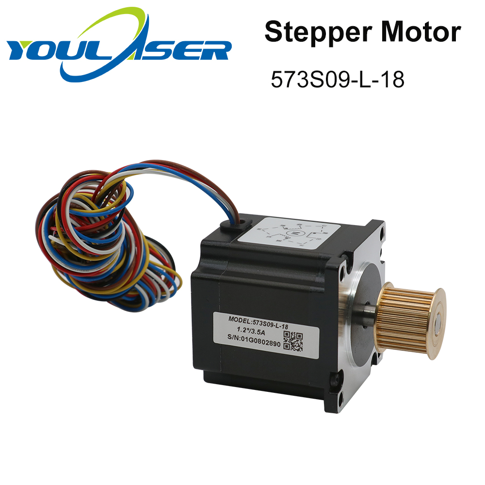 H00a95c445f304c9781d9cd6a22a9240ay - YOULASER Leadshine 3 Phase Stepper Motor 573S09-L-18 for NEMA23 3.5A Length 50mm Shaft 6.35mm