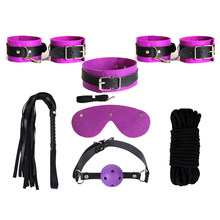7pcs sex set toys slave collar dog bundle Bdsm bondage sex sets for couple Adult games handcuffs in tool toys sex dog collar(China)