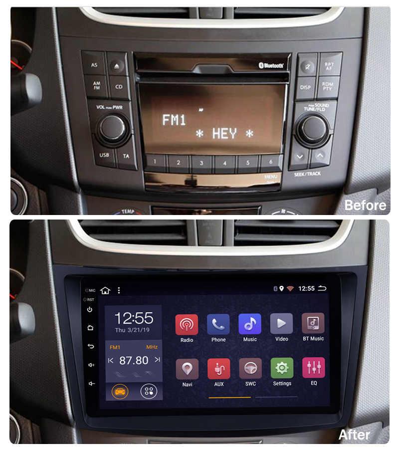 9 cal 2G + 32G 2 din Android 9.1 samochodowy odtwarzacz dvd odtwarzacz dla Suzuki Swift 2011-2015 samochodów radio odtwarzacz multimedialny nawigacja GPS BT WIFI