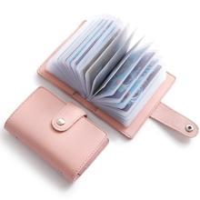 Moda Unisex wizytownik na karty biznesowe kobiety etui na karty kredytowe ID torba dla mężczyzn kopertówka z organizerem portfel z gniazdami prawa jazdy