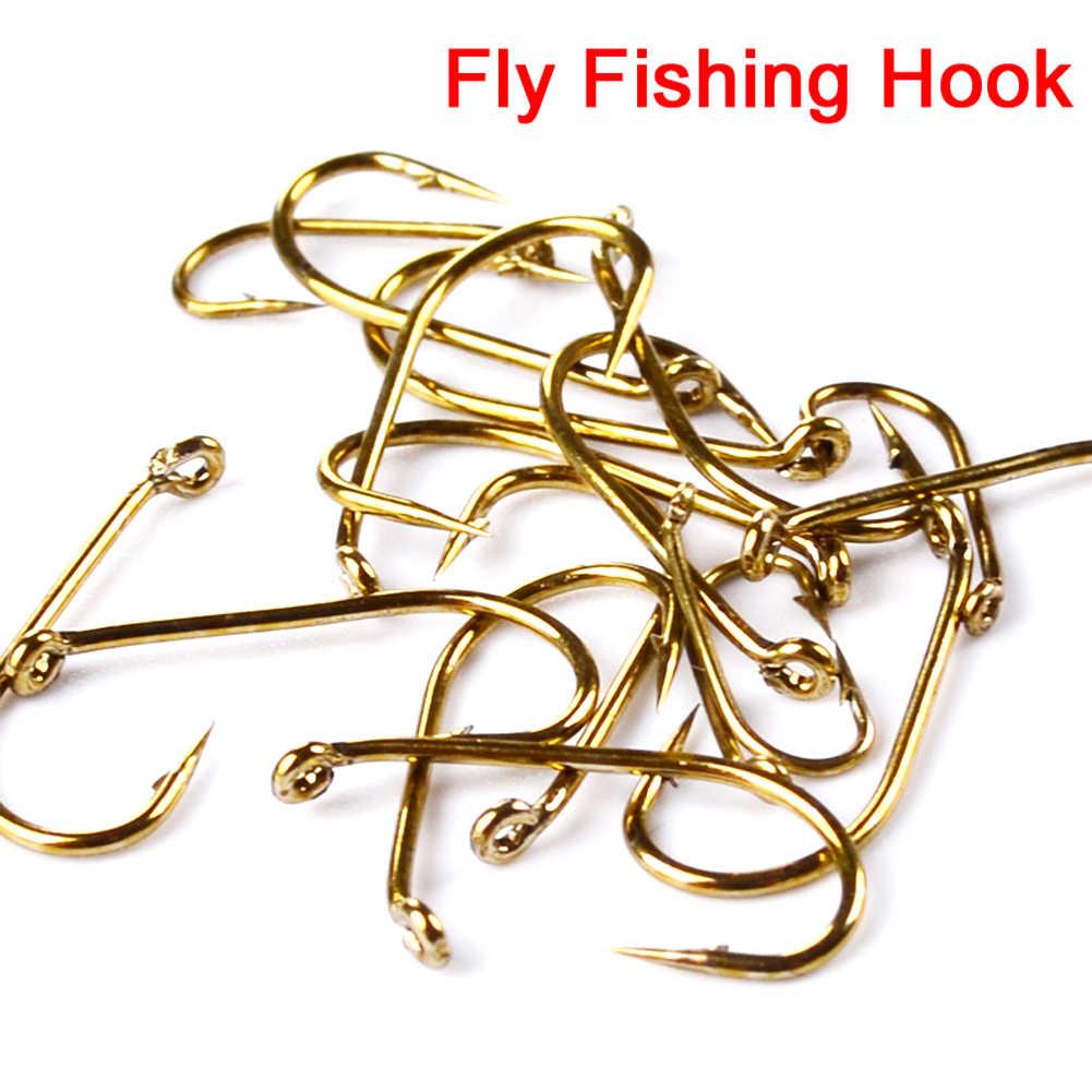 Anzuelos de cebo para pesca de carpa dorada de acero de alto carbono 200 Uds. 8 #12 #14 #16 # trucha ultrafina mosca para salmón