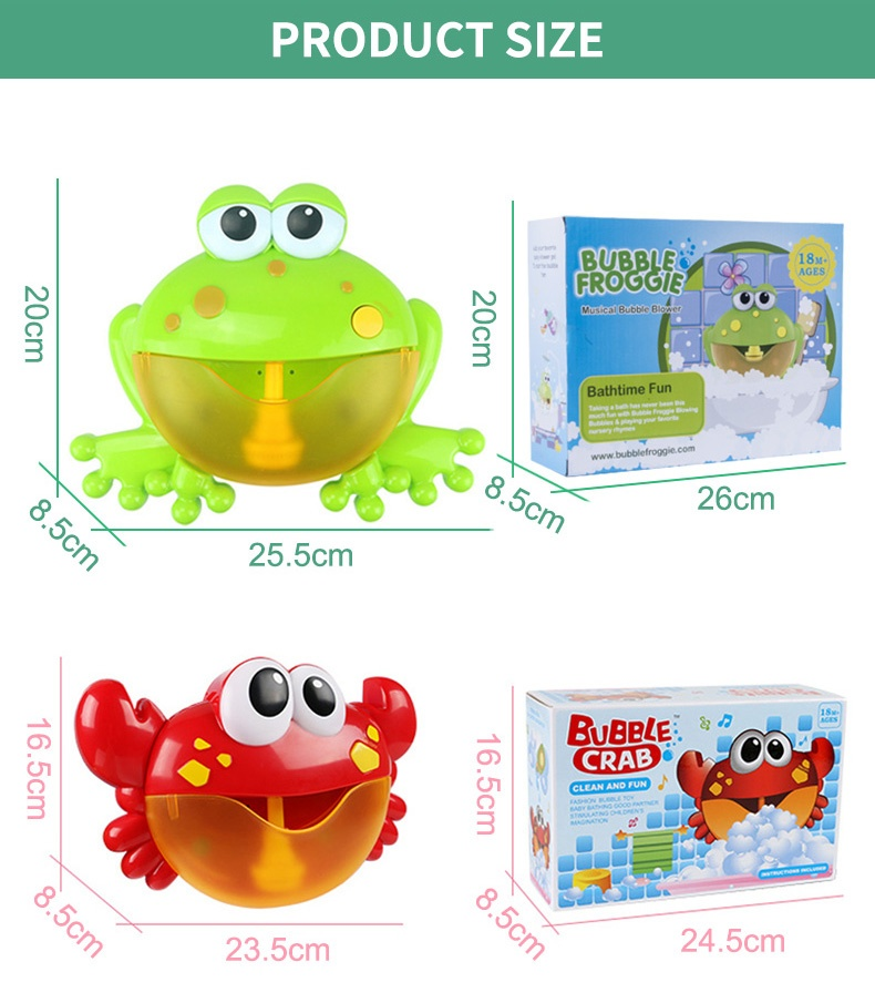 Automatic Bubble Animal Musical Baby Bath Toy