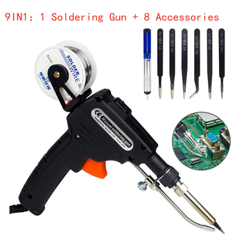 60w automatic soldering iron kit home electronic one hand operation soldering tool for welding circuit